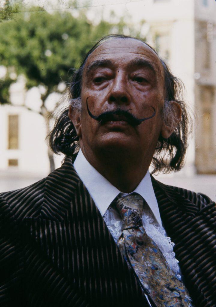 Salvador Dalí in Figueras, 1976, Foto Werner Kohn