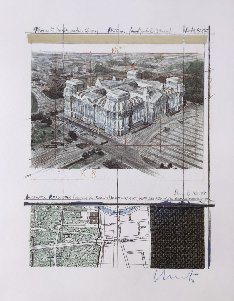 Wrapped Reichstag-Project for Berlin 1986-1994