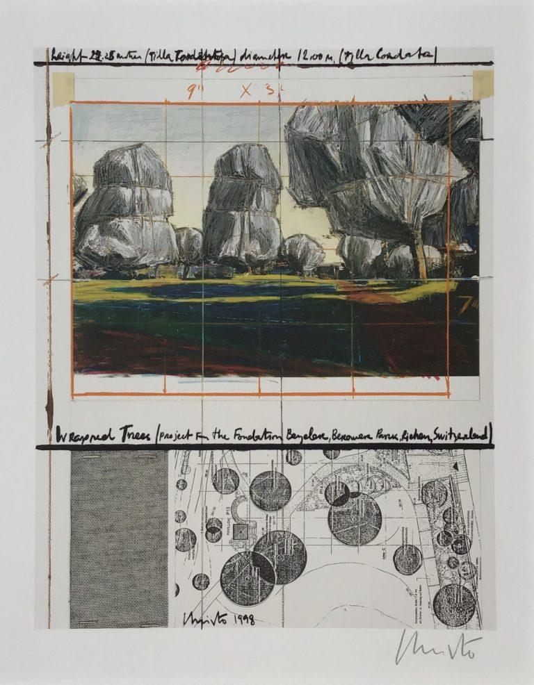 Wrapped Trees-Fondation Beyeler und Berower Park, Riehen, Schweiz 1997-1998