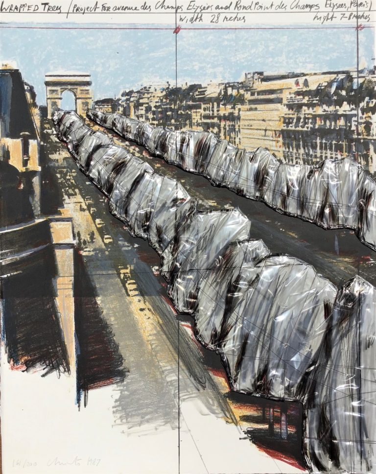 WRAPPED TREES Project for the Champs Elysées Paris 1987