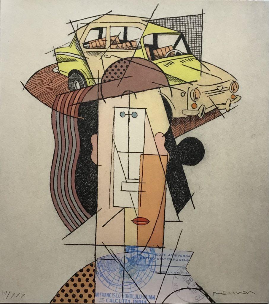 """Hommage à Picasso: """"Autos"""" SEAT 850"""