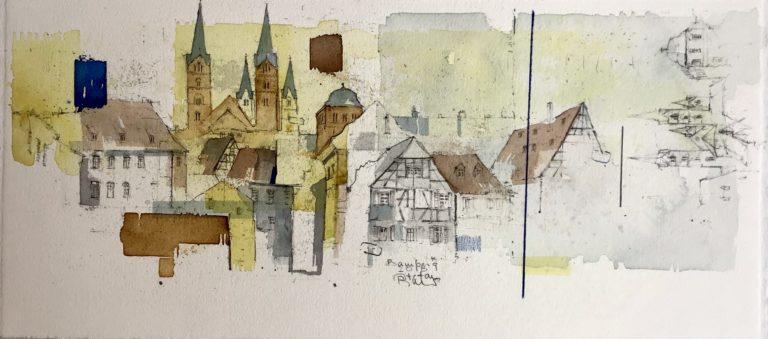 BAMBERG - Blick über Dom und Residenz