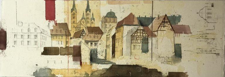 BAMBERG - Blick zu Dom und Residenz